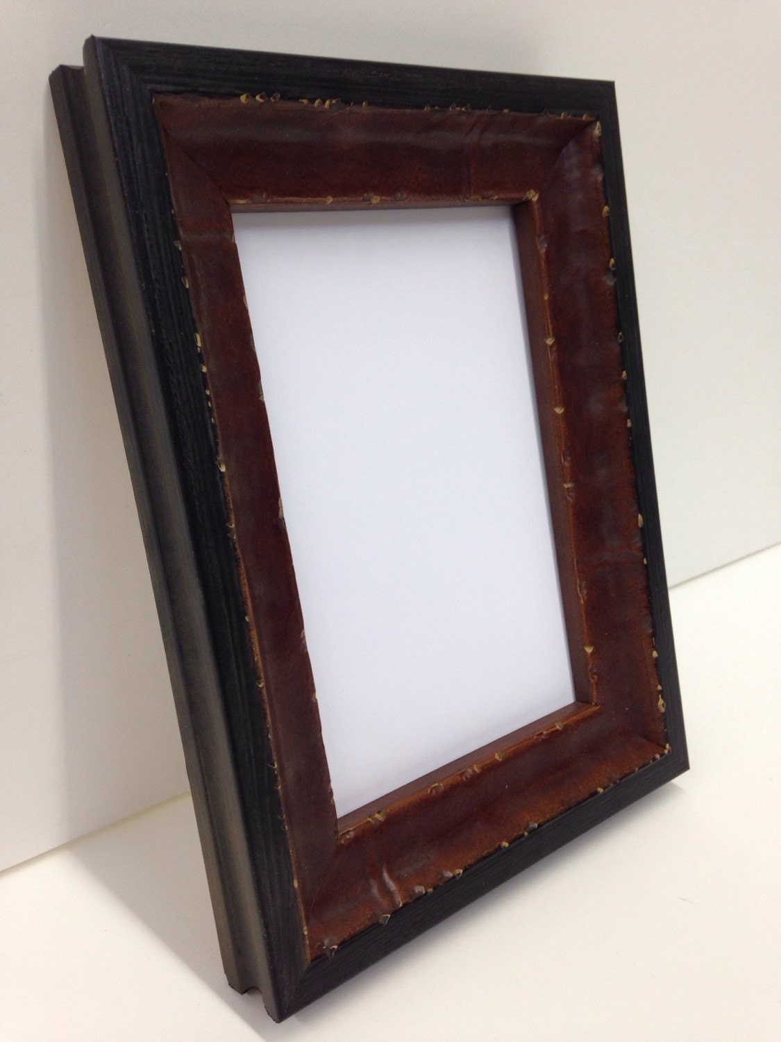 Distressed Wood Picture Frame, Mahogany Color, 3x5, 4x6, 5x7, 8x10 ...