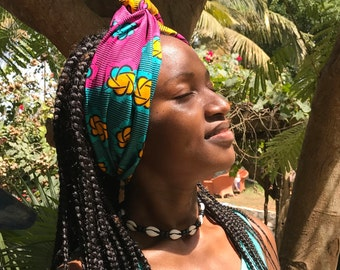 MY TRIBE headwrap 'Blossoming Sun'