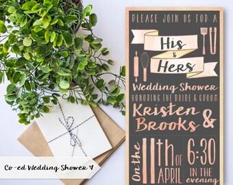 Co-ed Couples Wedding Shower Invitation | Stock the Kitchen Shower | Bridal Shower | Watercolor | Pastels | Chalkboard | PRINTABLE/DIGITAL