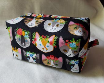 Flower Crown Kitties Box Zipper Pouch