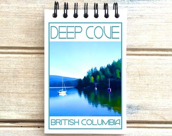 Deep Cove North Vancouver B.C. - Love This Place - Cityscape Notebook - Vancouver Canada - Notepad Custom Gift - The Jitterbug Shop
