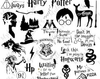Harry Potter svg, 25 Harry Potter files pack, Harry Potter quotes svg, Harry Potter clipart, svg files, digital download, cricut cut files