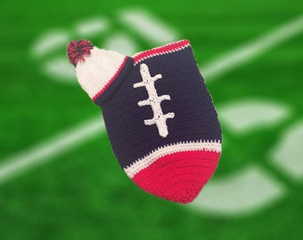 Houston Fan Favorite Baby Boy Football Cocoon & Hat (Newborn to 3 months)
