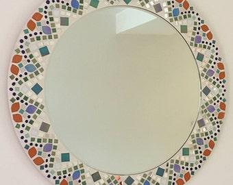Mandala Pattern Mosaic Mirror (made to order)