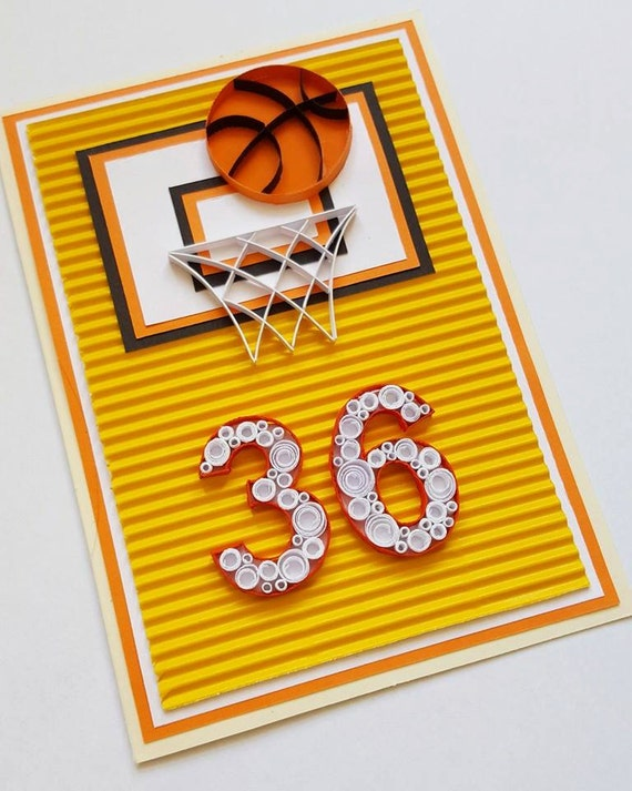 Basketball birthday card happy birthday card basketball like this item bookmarktalkfo Image collections