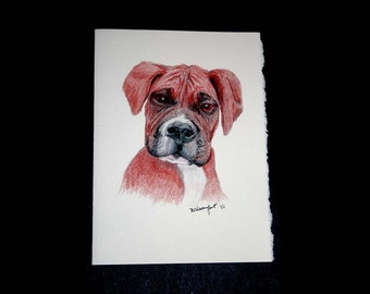 Boxer Pup note cards set of 8
