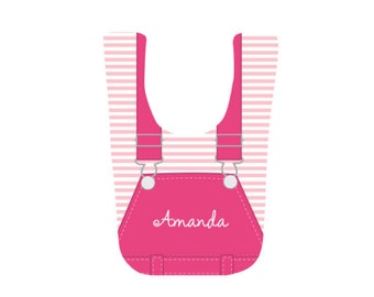 Personalized Baby Girl Bibs
