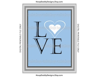 Home LOVE print. Printable Design