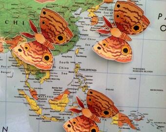 Fluffy Moth Stickers