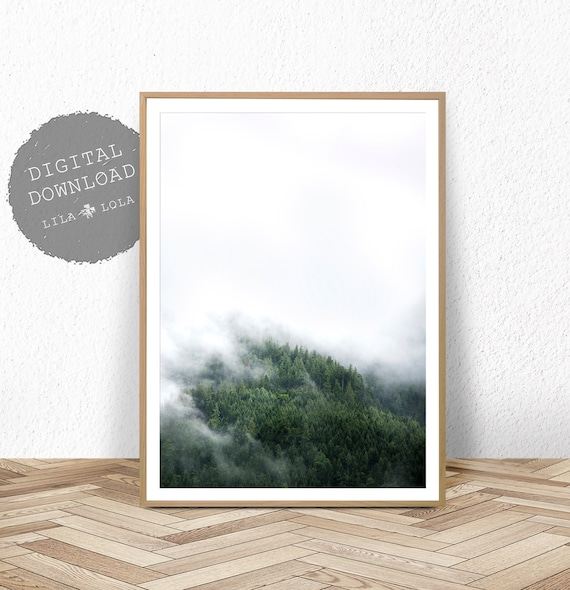 Scandinavian Wall Art Poster, Forest Print, Nature Photography, Pine Trees Print, Printable Digital Download, Scandinavian Wall Art Decor