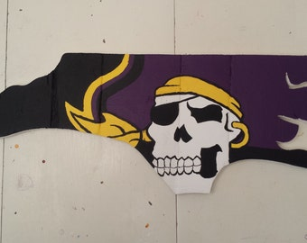 Reclaimed Wood / Pallet Wood East Carolina University / North Carolina Wall Hanger / Art