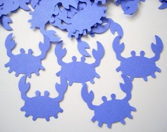 50 Bright Blue Crab Confetti, Under the Sea, Nautical Party, Ahoy it's a Boy - No415