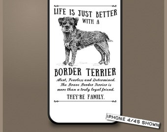 Border Terrier dog phone case cover iPhone Samsung ~ Can be Personalised