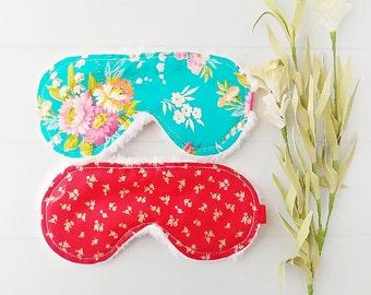Sleep Masks - Sleeping Mask - Back to School - Eye Mask - Accessories  - Flower Sleep Mask - Teacher Gifts - Bridal Favors