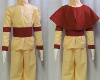Aang Last Airbender Avatar Cosplay Costume Child Size 3 4 5 6 7 8 9 10 12