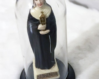 """Vintage Saint Clare of Assis Patron of Television 5"""" (Nun Under A Dome) by - ACCOUTREMENTS"""