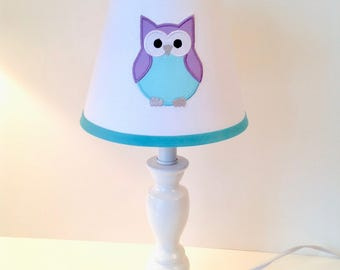 Owl lamp shade etsy owl lamp shade colors are customizable with or without monogram aloadofball Choice Image