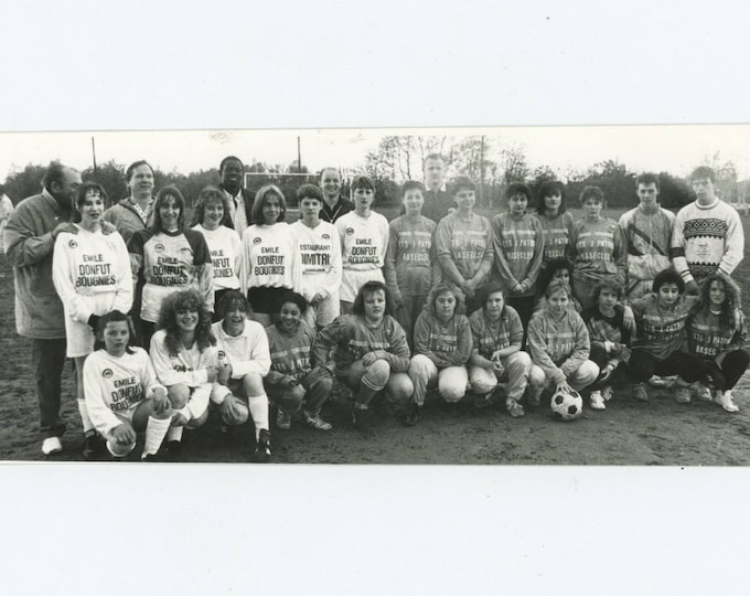 Belgian Girls' Soccer Teams, [Bougies & Basecles]: Vintage Snapshot Photo [81643]