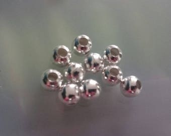 silver plated 5 mm 10 beads
