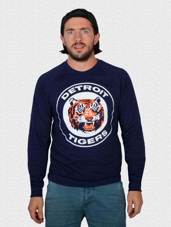 Detroit Tigers Raglan Shirt Logo triblend 3/4 sleeve unisex 1984 World Series Tigers Fan Gift USA made Gift For Dad Opening Day 2018 hzbqdFs