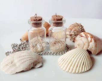 Sandy Beach Bottled Charm Necklace
