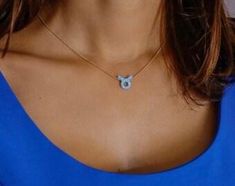 Opal necklace, opal zodiac necklace, Blue opal necklace, opal gold necklace, opal jewelry, personalized opal necklace, October birthstone