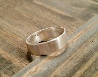 Mens Wedding Band, Rustic Wedding Band - Get it personalized!