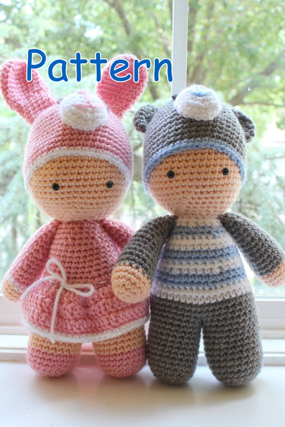 Crochet Amigurumi Cute Twin Baby Dolls Pdf Pattern Stuffed Toy