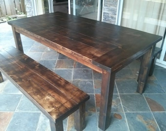 Farmhouse Table, Kitchen Table, Dining Table, Rustic Table