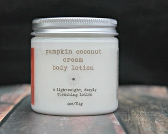 Pumpkin Coconut Cream Lotion, Vegan Body Lotion, Natural Lotion