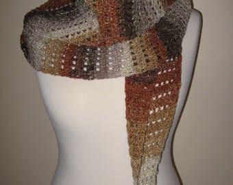 Handmade crochet wrap, crochet shawl, crochet stole, neckwarmer, scarf, crocheted accessory