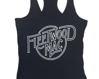 Fleetwood Mac Black Womens Tank Top
