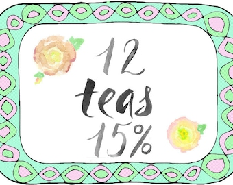 12 Teas - Choose your own - 15% Discount