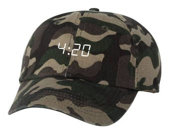 420  Dad Hat Adjustable Baseball Cap New - Camo