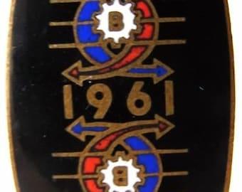 1961 CZECH BRNO EXHIBITION International Enamel Badge Pin