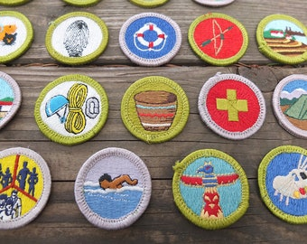Vintage Boy Scout Patches / Boy Scout Merit Badges / Vintage Embroidered Boy Scout Patches / Boy Scout Memorabilia