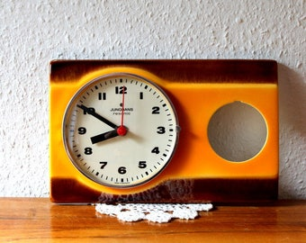 Vintage ceramic Junghans Resonic, kitchen clock, wall clock, made in Germany, does not work.