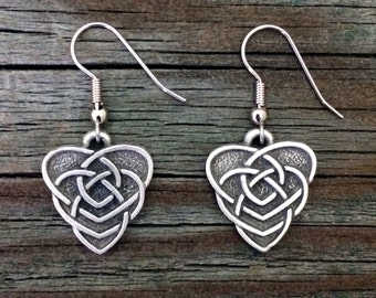 Celtic Mothers Knot Earrings   Celtic Jewelry   Irish Jewelry   Scottish Jewelry   Handcrafted Jewelry   Fine Pewter by Treasure Cast