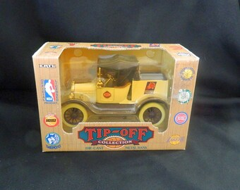 ERTL Die-Cast Metal Bank - First Edition Tip-Off Collector Series - 1994 - Made in USA - NBA Phoenix Suns #8463