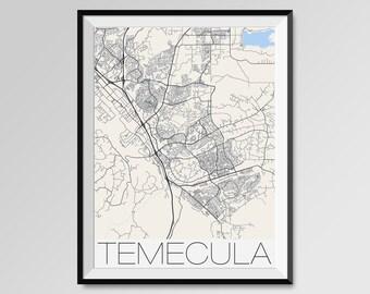 Temecula map Etsy
