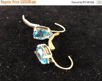 ON SALE 10K solid Gold Topaz Earrings