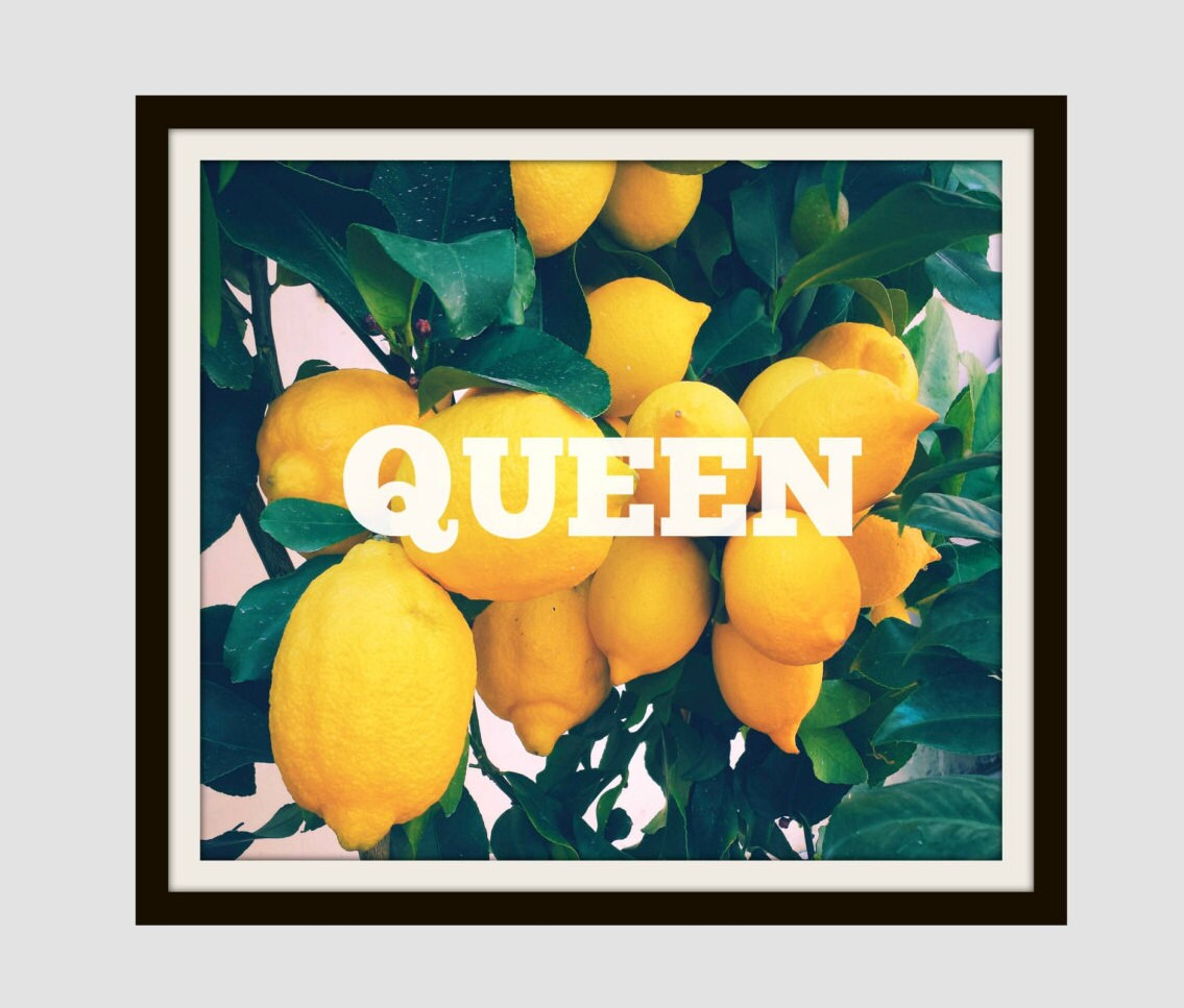 Beyonce Inspired Lemonade Queen Home Decor Wall Art Modern
