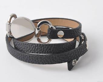 Leather Cuff Women's Wrap Bracelet, Women's Leather Cuff,women leather bracelet,leather jewelry,wristband,leather bracelets for women