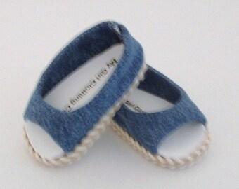 Denim Open Toe Summer Shoe