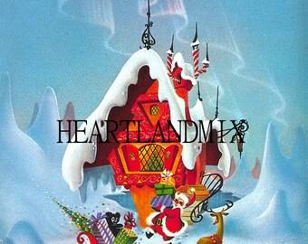 North Pole Digital Image Christmas Printable Download