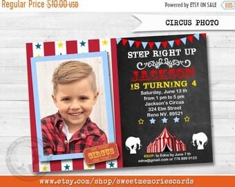 ON SALE Circus Invitations, Circus Birthday Invitation, Carnival Invitation, Carnival Birthday Invitation, CIRCUS Photo