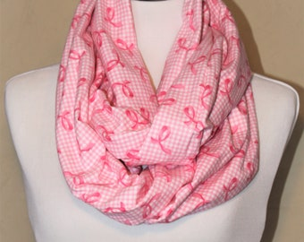 Breast Cancer Awareness Infinity Scarf