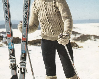 Paton's Winter Wool 12 ply Womens Knitting Pattern Book No 682  Vintage 1970s Jumper, Sweaters, Cardigans, Jackets.