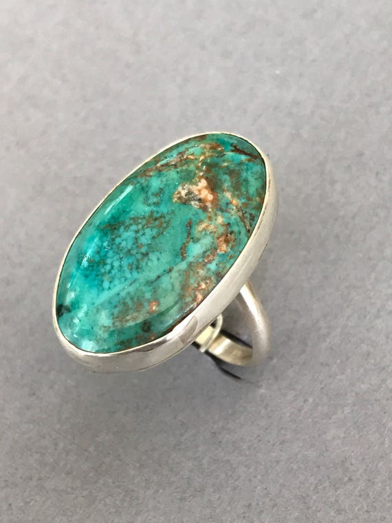 Handmade, sterling silver, turquoise ring