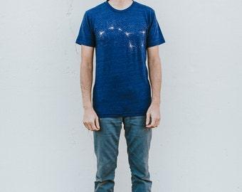 Ursa Major Galaxy Constellation Shirt, Celestial Blue Tshirt Mens Graphic Tee, Big Dipper Astronomy Gift for Him, Mens Clothing T-Shirt